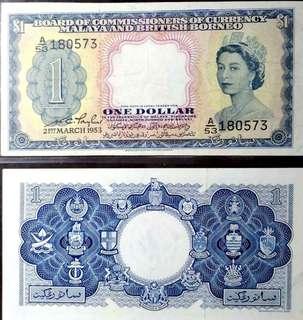 Old Banknotes: Malaya & British Borneo Notes