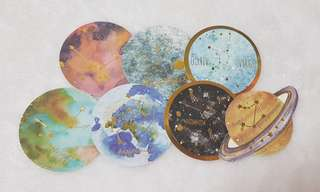 Star Signs Gold Stamping Stickers