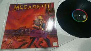 Megadeth - early pressing -peace sells whos buying vinyl lp record