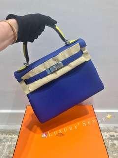 ✨全新 2018買入! 🦄Hermes✨⚡️Kelly 28 Bleu Electrique 7T 電光藍 phw銀扣 Togo Stamp A 🐎限量版 $133000