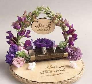 Wedding ring holder - Rabbits wonderland