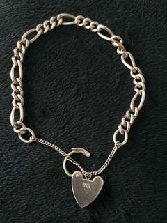 Solid sterling silver 925 bracelet. Used in good condition