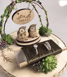 Wedding ring holder - owl