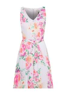 [BNWT] Dorothy Perkins - Petite Floral Grey Dress UK8