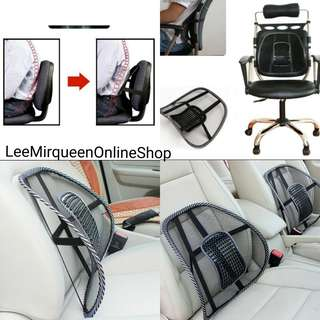Mesh Lumbar Cushion Backsupport for Car and Chair