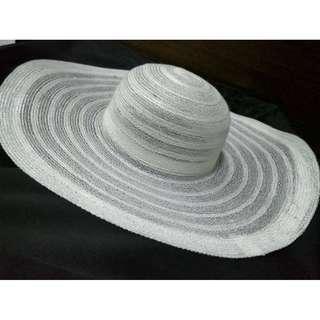 Ready Stock! Korean Beach Straw Hat - White