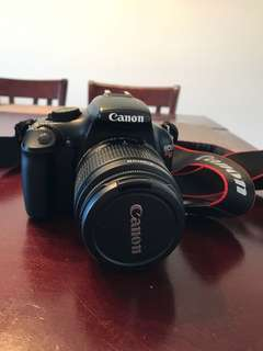 Selling Canon EOS Rebel T3 with 2 lenses and camera bag