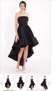 Doublewoot Scuba High Low Ruffled Dress