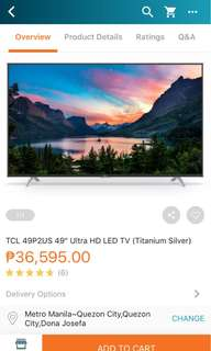 "TCL 49"" UHTV Smart TV -Titanium"