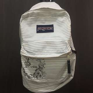 White Jansport Backpack