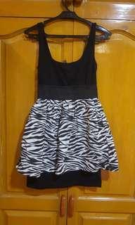 Zebra peplum dress