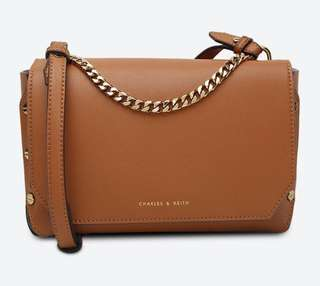 Charles & Keith Cognac Sling / Shoulder Bag