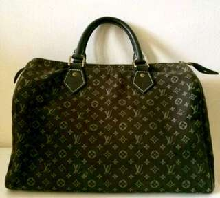 Authentic LV Louis Vuitton mini Lin Monogram speedy 30 bag