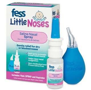 澳洲嬰幼兒生理鹽水通鼻噴霧+吸鼻器
