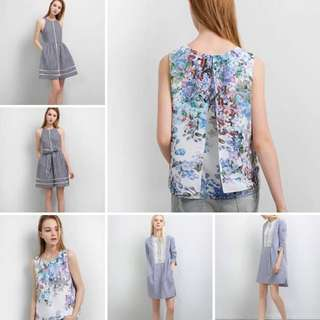 Saturday Club Floral crop top | water colour | Chiffon | Wing sleeveless XXS