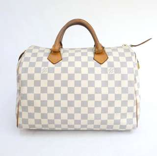 *reduced* Authentic Louis Vuitton LV Damier Azur speedy 30 bag