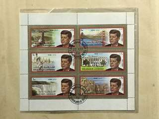 Sharjah 1972 John F Kennedy stamp 郵票