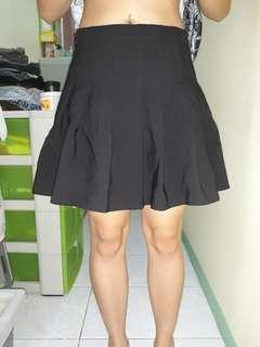 Black Korean Tennis Skirt