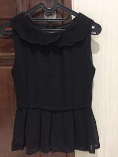 Black lace peplum