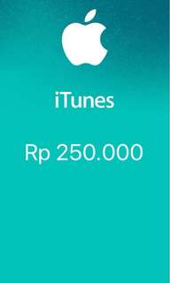 iTunes Gift Card Indonesia 250rb