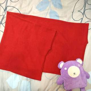 🚚 000 全新 大紅針織 圍巾 和式罩衫外套 兩用