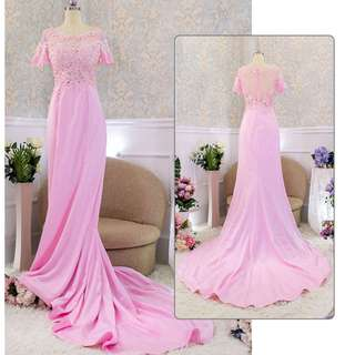 pre order pink nude purple turquoise fishtail lace diamond wedding prom dress gown  RBP0745