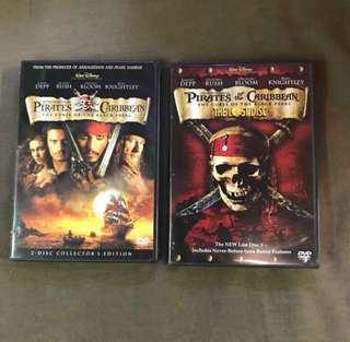 魔盜王 DVD 3-Disc set Pirates of Caribbean The Curse of the Black Pearl