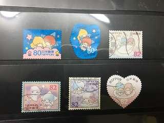 日本Little Twins Star信銷郵票E10(已使用)