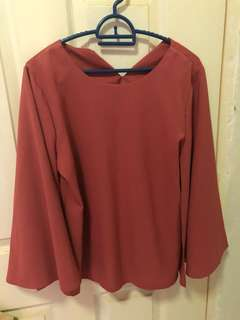 Batwing Top Blouse in Deep Pink