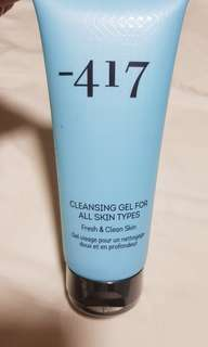 BRAND NEW. SEAL. -417 FACE CLEANSING GEL. All skin types.