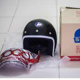 SGV Trendy Matte Black helmet + BOGO Visor (Smoke black)
