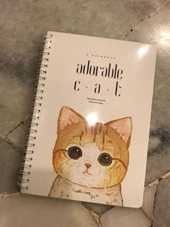 Cat notebook (with lines)