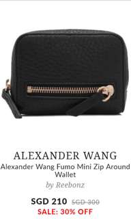 Alexnder Wang Fumo Mini Zip Around Wallet