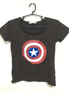 Zara Captain America shirt
