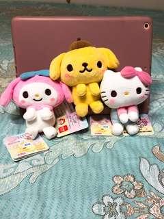 最新日本 hello kitty/ my melody/ 布甸狗公仔景品
