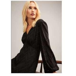 New!Witchery Black Jacquard Dress, RRP$159.95