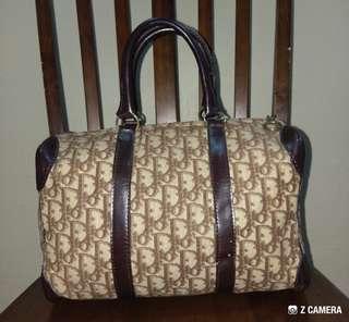 Tote/ Duffle Bag Canvas Vtg Dior