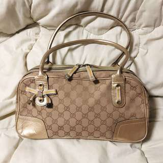 Gucci Signature GG Canvas Princy Medium Boston Bag (limited Edition)