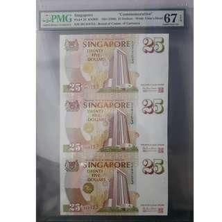 Singapore MAS Commemorative $25 3 in 1 Uncut
