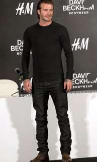 H&M tapered jeans(David beckham series)
