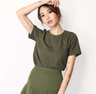AFA Aforarcade Campbell Tee in Olive size M