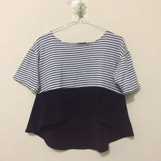 Stripes Crop Top knit by tresa shop