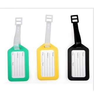 Instock Luggage Tag Name Tag With Strap Address Label ID Card