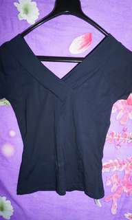 Kaos wanita biru navy