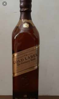 Johnnie Walker Gold  Label 18年威士忌700ml,no box.