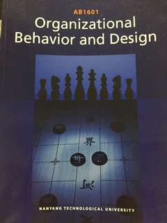 AB1601 Organizational Behavior and Design