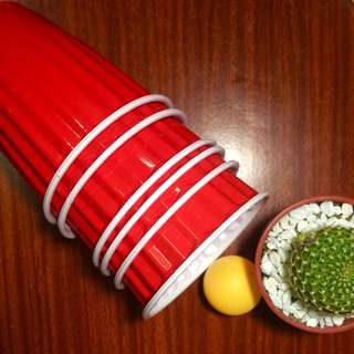 Red Cups and Ping Pong balls For Beer Pong Game