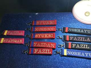 Personalised/named keychain