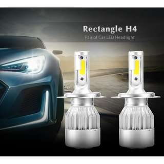 💯 Rectangle H4 Pair of Car LED Headlight