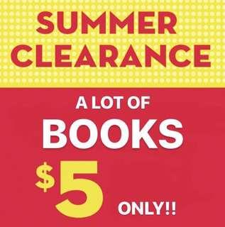 ALL BOOKS $5!